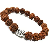 Zonarwood Rudraksha Bracelet (5 Mukhi Rudraksh - 6mm) panchmukhi Handmade Yoga Mediation Energised Buddha Bracelet for Men and Women