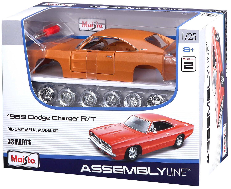 Maisto 01.25 th Skala 1969 Dodge Charger R-T-Kit 39256