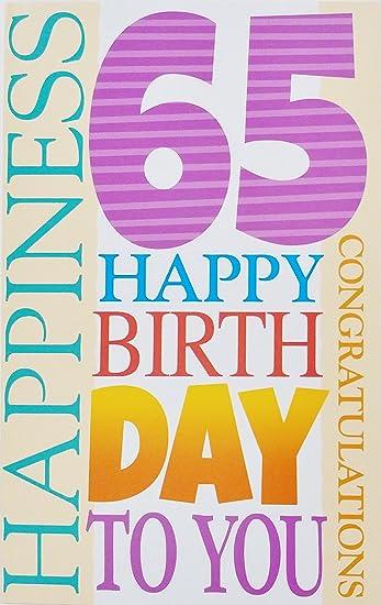 Amazon happy 65th birthday greeting card 65 years old may happy 65th birthday greeting card 65 years old quotmay your birthday be m4hsunfo