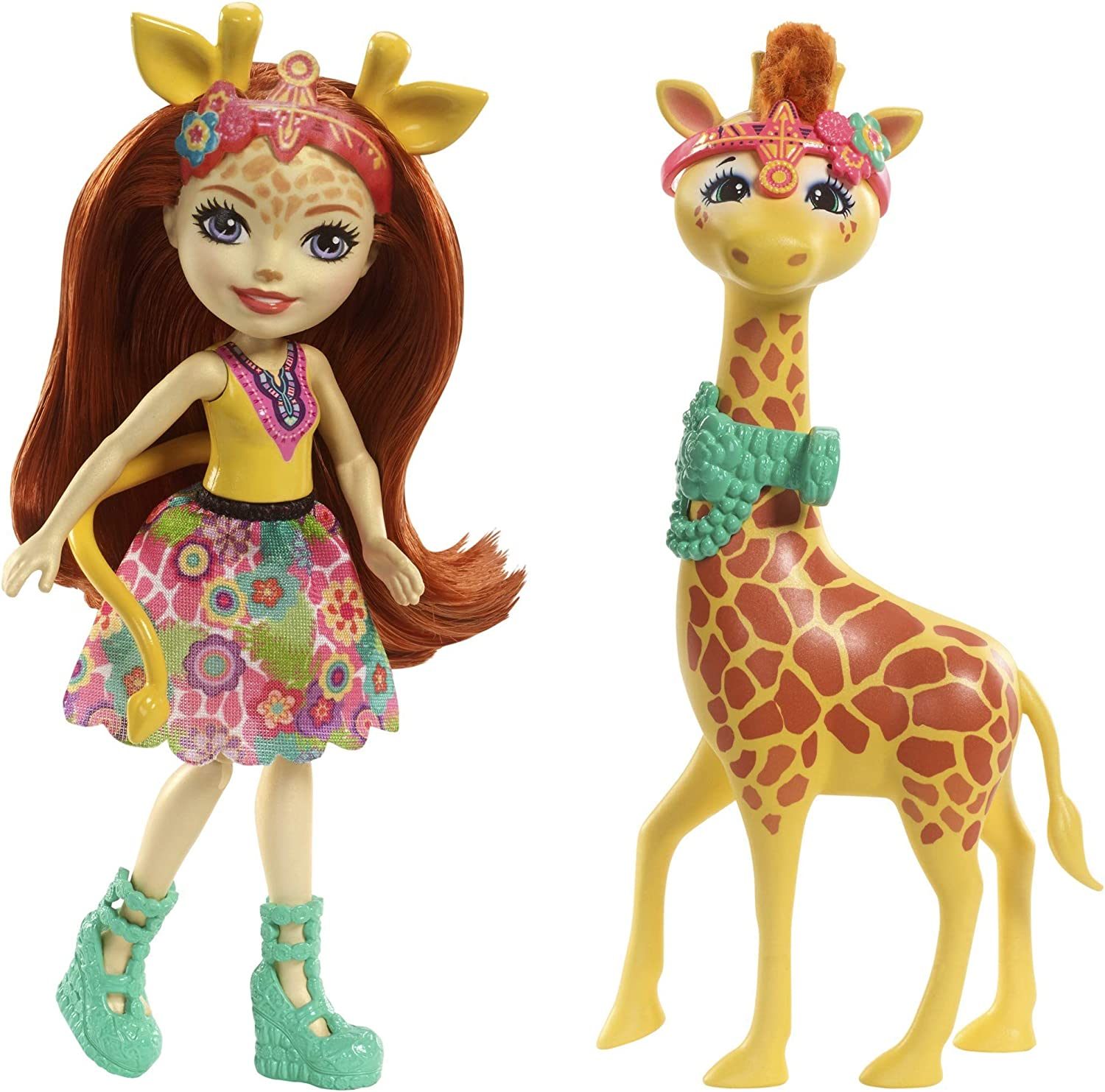 Enchantimals-FKY74 Echantimals Muñeca Gillian Giraffe, colores, única (Mattel FKY74)