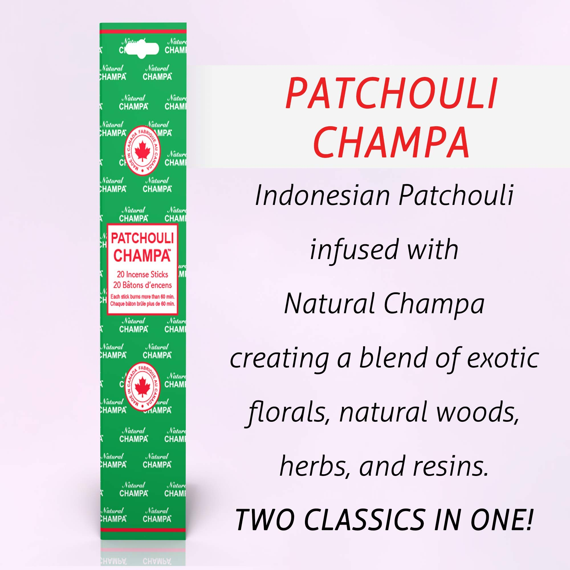Natural Champa Incense Set - Classic Blended Collection of 140 Sticks with Free Incense Burner - Lasts 60+Minutes by Natural Champa (Image #3)