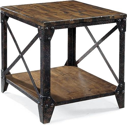 Editors' Choice: Magnussen T1755 Pinebrook Distressed Natural Pine Wood Rectangular End Table