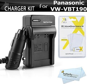 vehículos de cable de carga Panasonic hc-vxf999 cargador de batería set con cable de alimentación