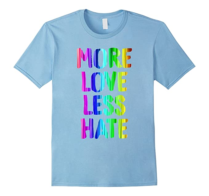 f7b3e0d23160 Mens More Love Less Hate LGBT Pride Shirt Equality Awareness Tee 2XL Baby  Blue