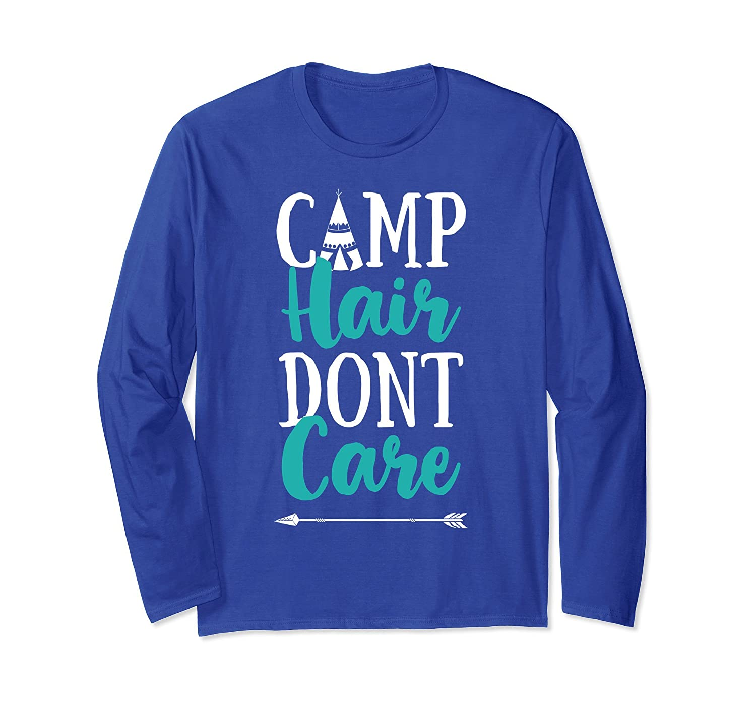 Camp Hair Don't Care T shirt Camping Camper Men Women Gift-alottee gift
