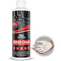 SPORTMEDIQ Pro Grade Liquid Chalk - Mess Free Professional Hand Grip for Gym, Weightlifting, Rock Climbing, Gymnastics, Rock Climbing - Dries in Seconds - 8.5 Oz