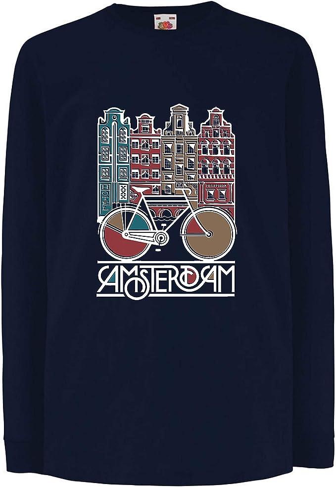 lepni.me Camiseta para Niño/Niña Bicicleta Vintage de la Ciudad ...