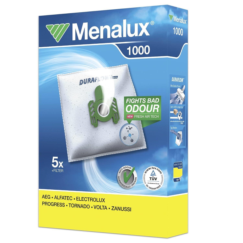 MENALUX 1000+1 FILTRO ADICIONAL, 5xSTAUBBEUTEL VOLTA Y 4111, 4401, 4402, 4405, 4406, 4502, DIAMANT U 405, 412, 414, 416, MEGA y 5006, 5008/F Electrolux