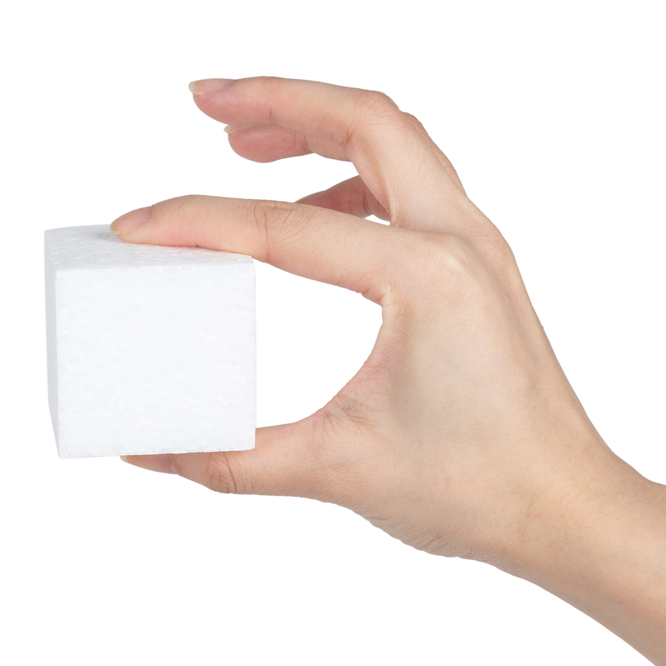 Craft Foam Blocks - 36-Piece Polystyrene Foam Blocks for Crafts and Modeling, 2 x 2 x 2 Inches Blank Craft Foam by Genie Crafts (Image #5)