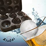 BootKitchenTan Silicone Ice Sphere Mold-Flexible Silicone Ice Ball Maker Whiskey Tray Mold Makes 4.5CM 6 Cool Spheres for Luxury Cocktails