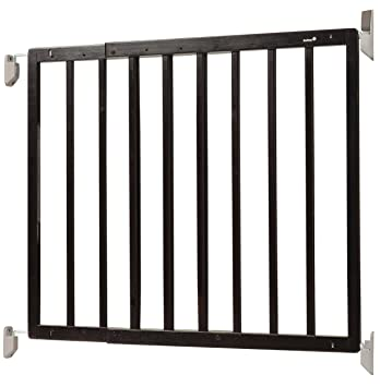 Safety 1st Top Of Stairs Frameless Décor Swing Gate, Fits Space Between  27u0026quot; ...