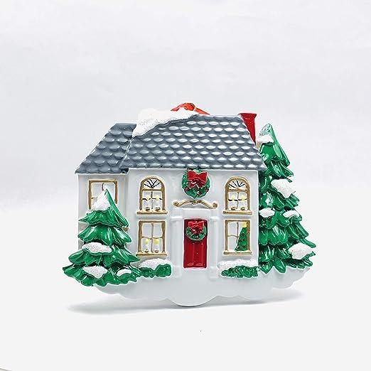 Red White House Christmas Trees 2020 Amazon.com: Personalized White Victorian House Christmas Tree