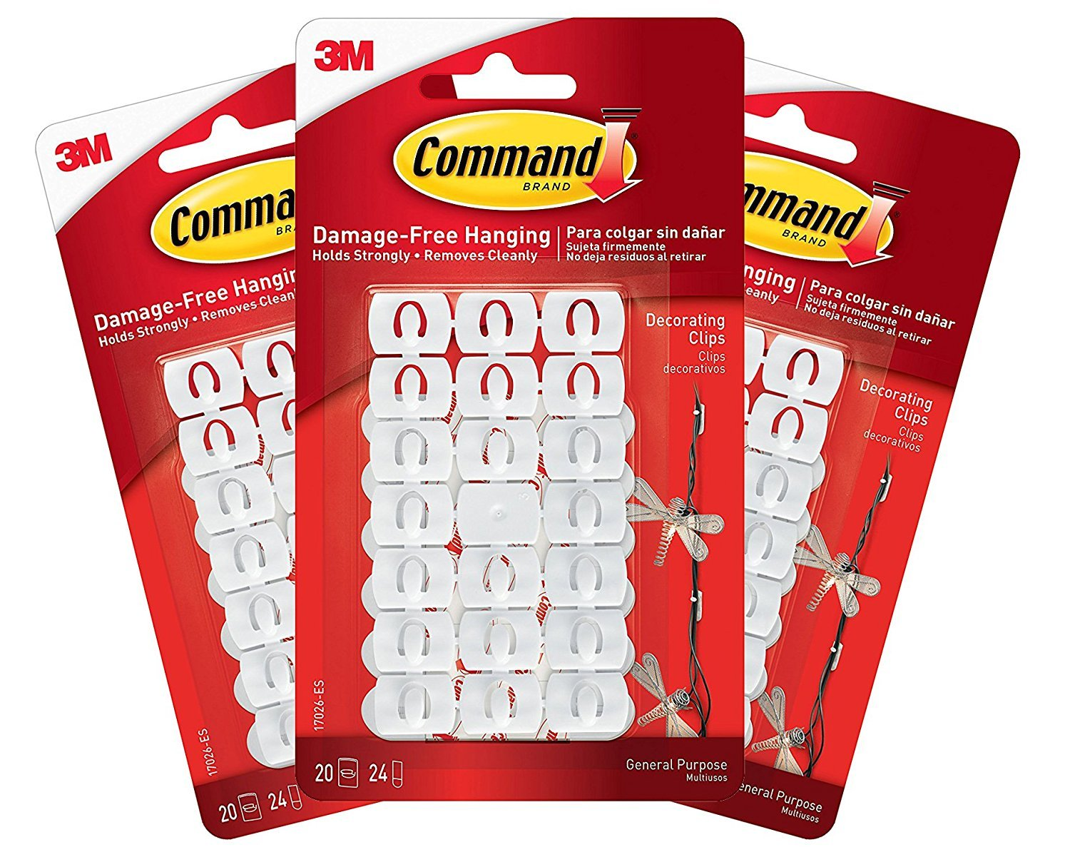 Command Decorating Clips, Clear, 40-Clip, 4-Pack - Bathroom ...
