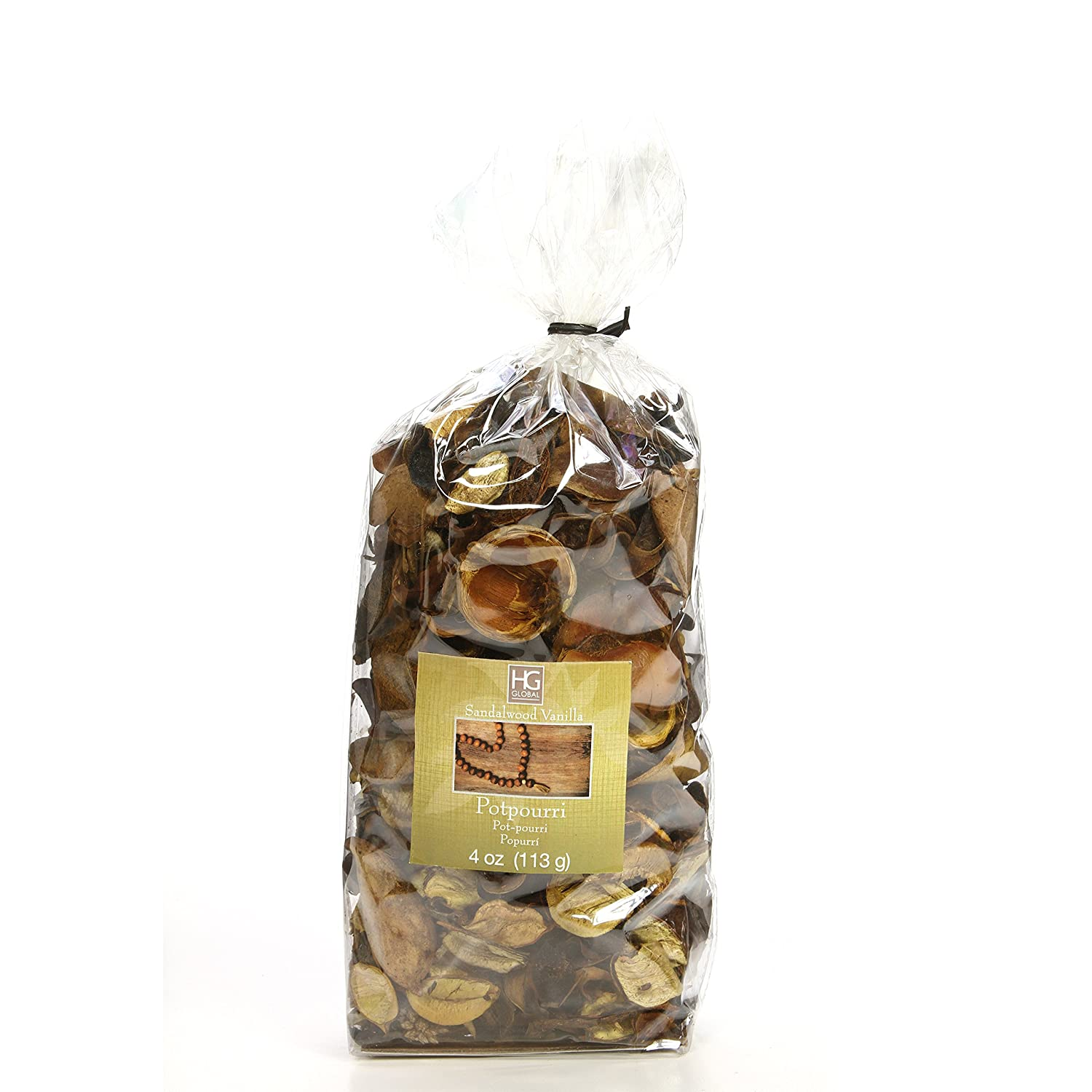 Hosley's Sandalwood Vanilla Scented, Natural Potpourri Bag, 4 oz. Infused with Essential Oils. Ideal Gift for Weddings, Spa, Reiki, Meditation Settings O3 FBA_H44382WD