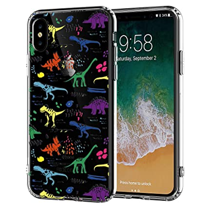 buy online 7a669 cc7c8 iPhone 7 Plus and iPhone 8 Plus Case ,Ancient Dinosaur Pattern,Anti-Scratch  Graffiti Pattern Full Coverage Clear Soft Rubber Drop Protection Case for  ...