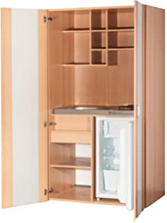 MK0009S Küche, Schrankküche, Miniküche, Singleküche in Buche 100cm ... | {Schrankküche ikea 49}