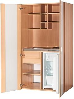 SET Mebasa MK0001 Küche inkl. Armatur, Miniküche, Singleküche in ... | {Singleküche mit kühlschrank 40}