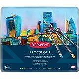Derwent 2302506 Procolour Colouring Pencils, Set of 24, Professional Quality, 2302506