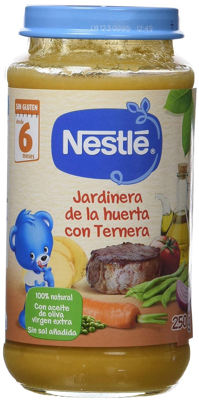 Nestlé - Naturnes Jardinera De La Huerta Con Ternera A Partir De 6 Meses 250 gr - Pack de 6 (Total 1500 grams)