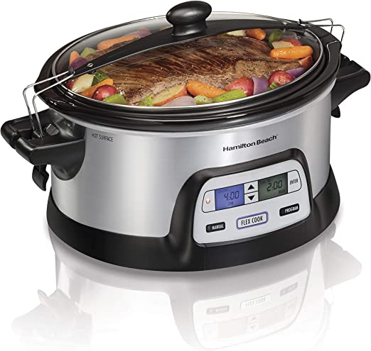 Hamilton Beach Stay or Go Portable 6-Quart Programmable Slow Cooker