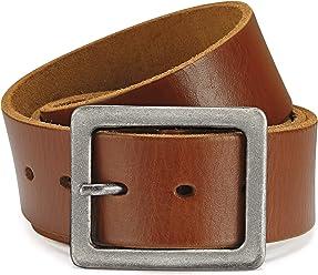 Eg-Fashion Herren Jeansgürtel in 4,5 cm Breite Ledergürtel 100% argentinisches Rindsleder - Individuell kürzbar - 2 Jahre Garantie
