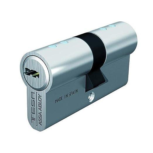 Tesa Assa Abloy, T8553030L, Cilindro de seguridad T80, 30x30 mm, Latonado: Amazon.es: Bricolaje y herramientas