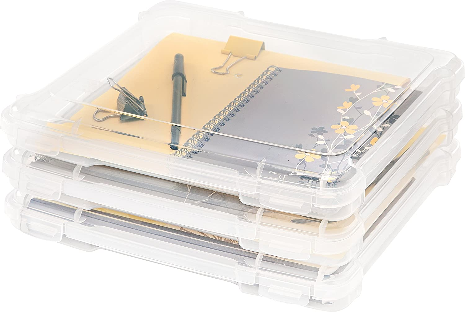 IRIS 8 x 8 Slim Portable Project Case, 10 Pack, Clear IRIS USA Inc. 586400