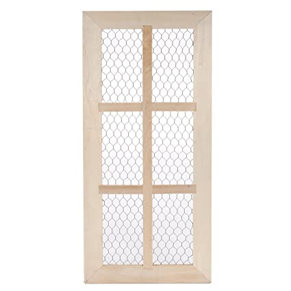 Amazon.com: Darice Chicken Wire, Unfinished Wood Door Frame, 6 Panes