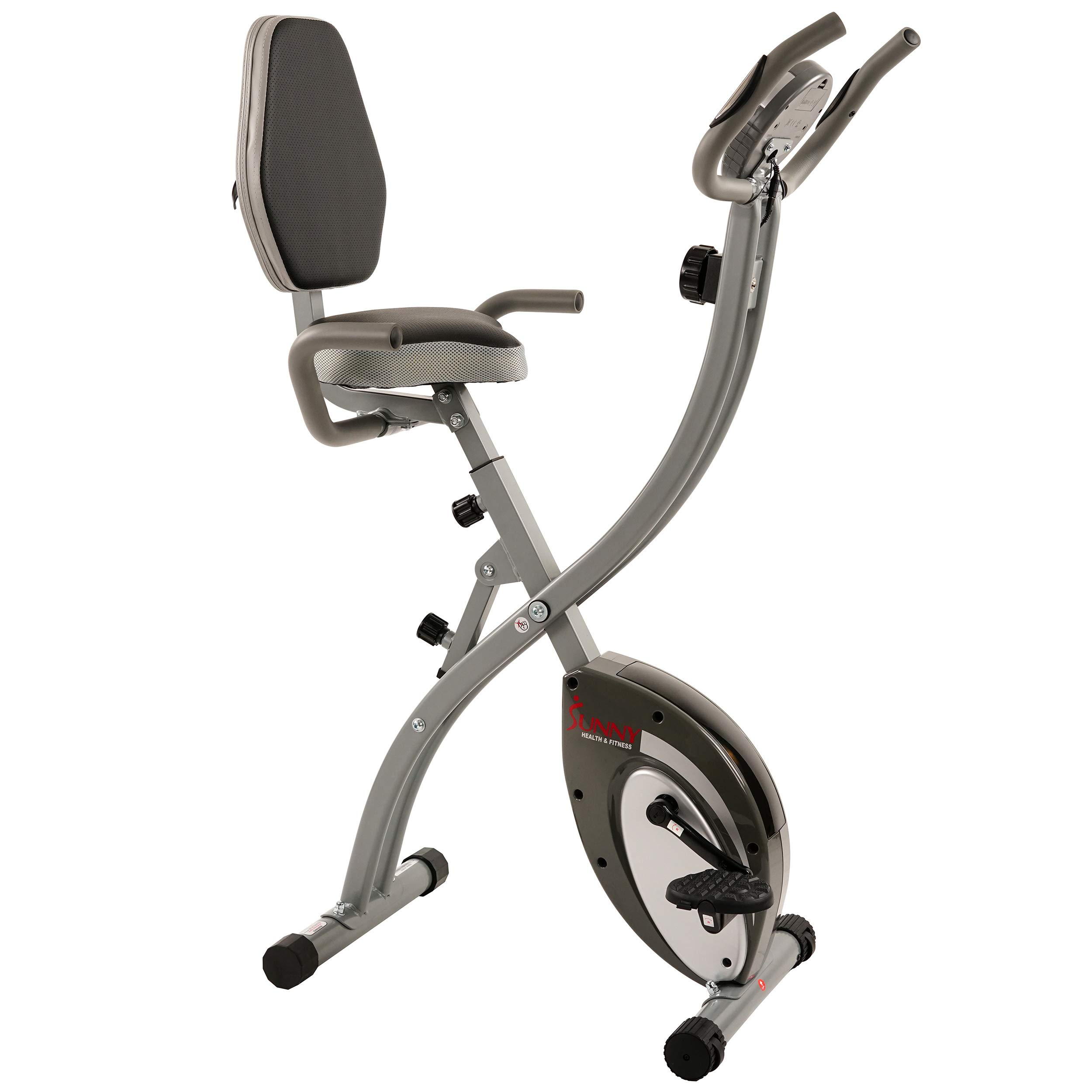Sunny Health & Fitness Comfort XL Folding Semi-Recumbent Bike - SF-B2721 by Sunny Health & Fitness (Image #5)