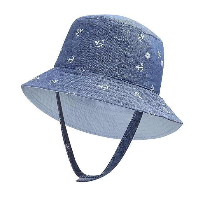 8314d6cd4ab vivobiniya Baby Boy Sun Hats Toddler Boy Bucket Hats Kid Sun Helmet 0-6years  Old
