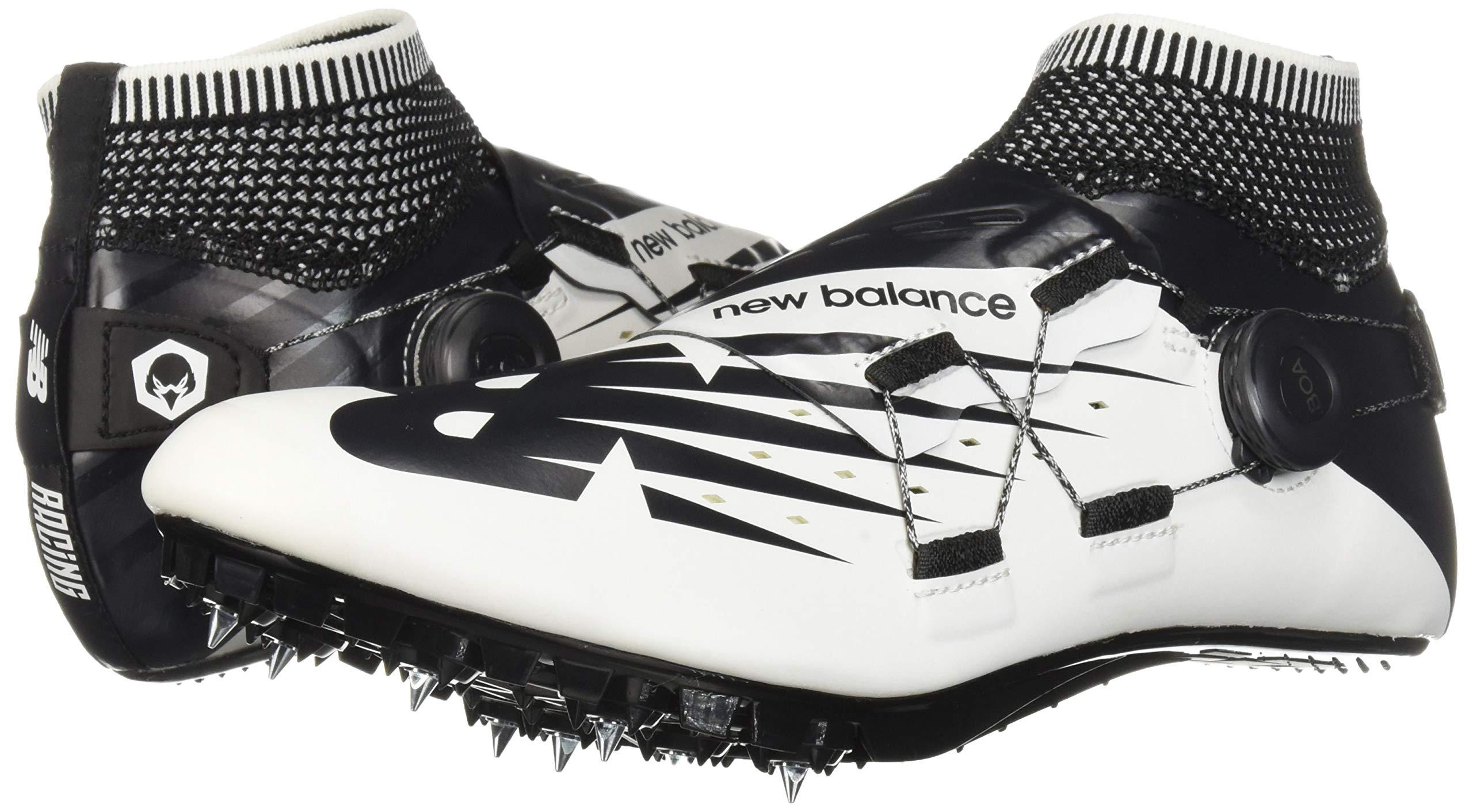 New Balance Men's Sigma V2 Vazee Track Shoe White/Black 4 D US by New Balance (Image #6)