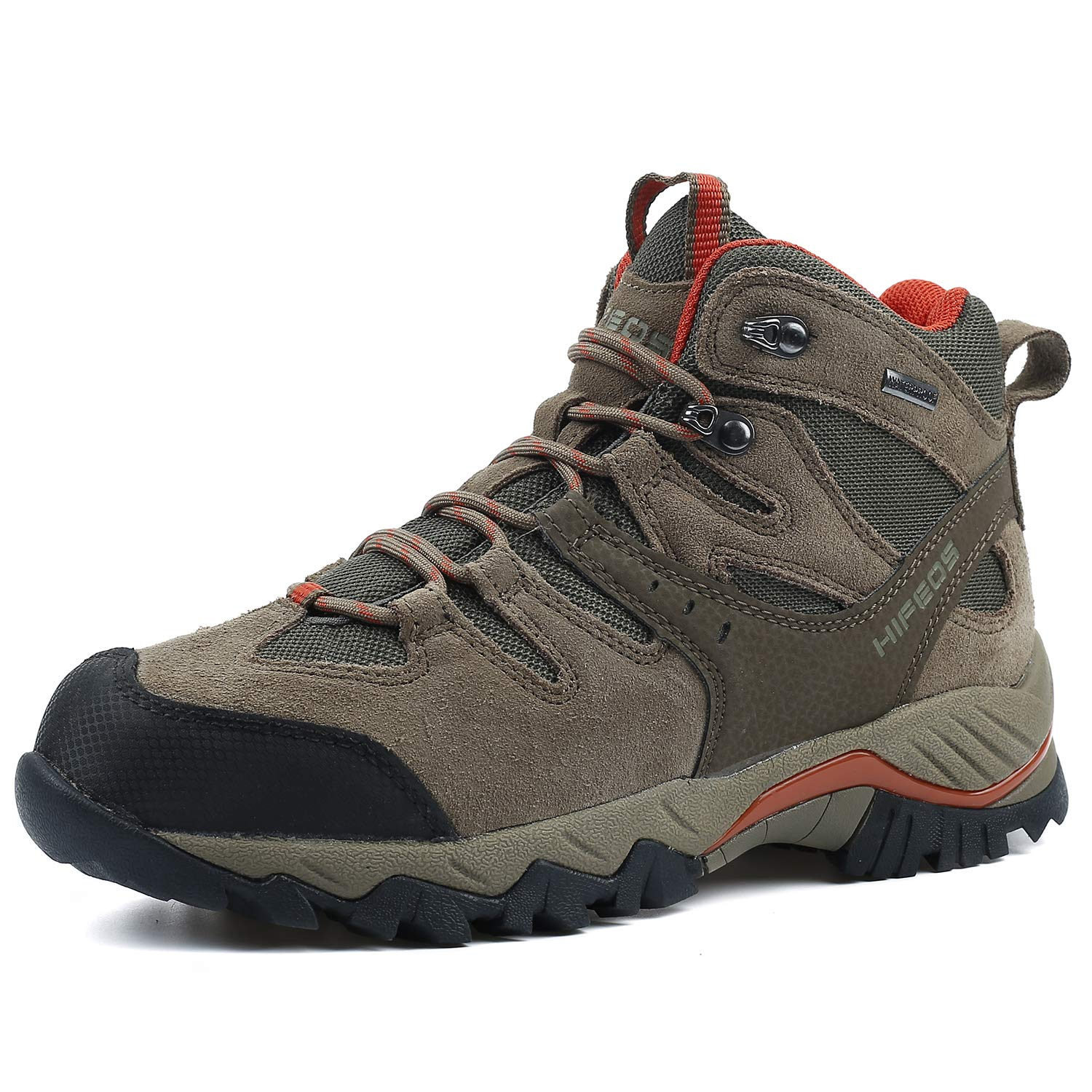 353c039e2a0 HIFEOS Hiking Boots Leather Trekking Shoes Outdoor Waterproof Backpacking  Shoes