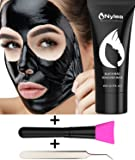 Blackhead Remover Set [FREE BRUSH & TWEEZERS] Charcoal Mask with Professional for Blackheads - Black Mask for Deep Cleansing [REMOVES ACNE] Best Facial Mud Mask - Peel Off Extractor Tool Kit