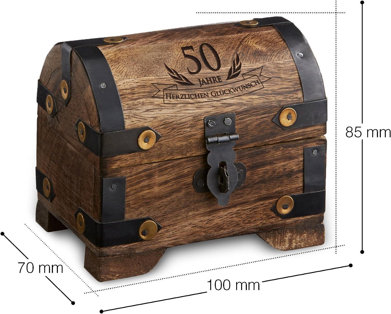 Geburtstag Holzkiste Holztruhe Geldgeschenk Holzbox Schatztruhe mit Gravur 80