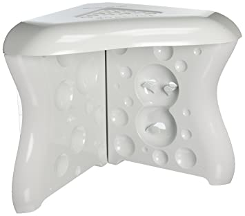 Amazon.com: ShavEzy Shower Foot Rest - White compact corner shower ...