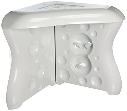 ShavEzy Shower Foot Rest   White Compact Corner Shower Foot Rest   Makes  Shaving Your Legs