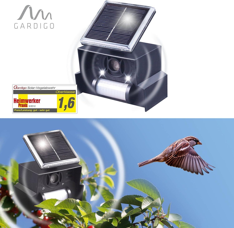 Tauben usw.Tiervertreiber verscheucht Vögel Solarbetrieben