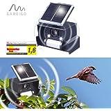 Gardigo solar Dispositivo persigue pájaros espantapájaros electrónico con ultrasonidos y flash LED contra la vida de