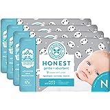The Honest Company Diapers - Newborn, Size 0 - Pandas Print   TrueAbsorb Technology   Plant-Derived Materials…