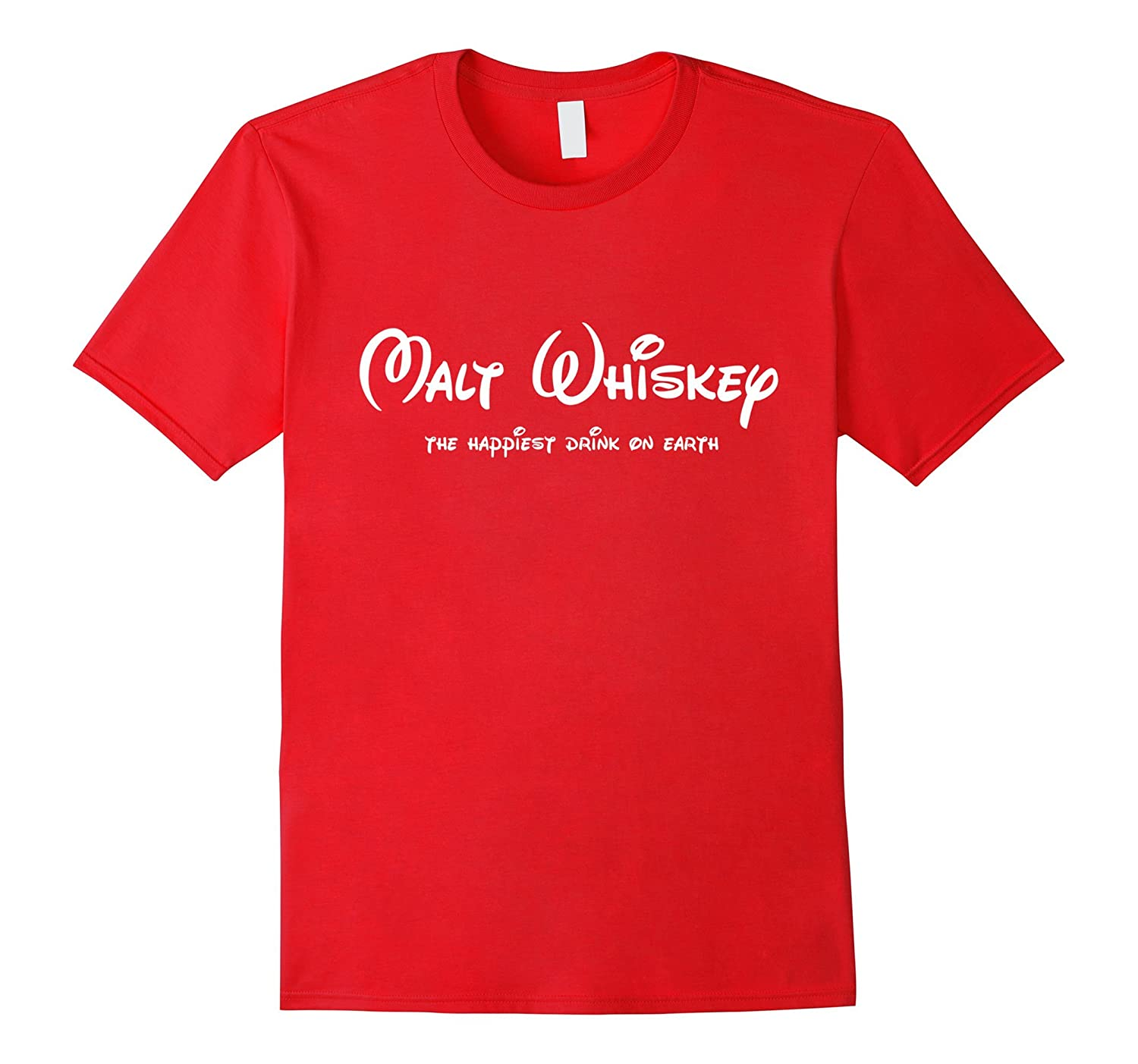 AW Fashions Malt Whiskey The Happiest Drink On Earth T-shirt-CL