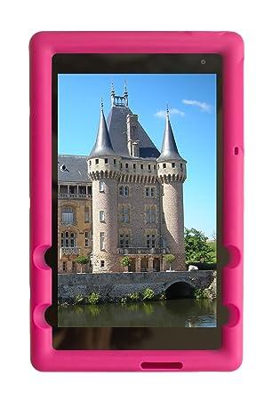 BobjGear Carcasa Resistente para Tablet DELL Venue 8 Pro Model 5855 - Bobj Funda Protectora (Rosa)