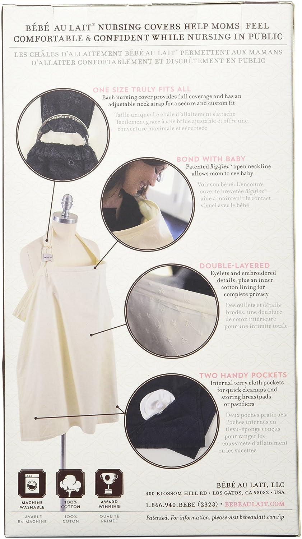 Bebe au Lait Classic Eyelet Nursing Cover, Eyelet Black 3CBETB