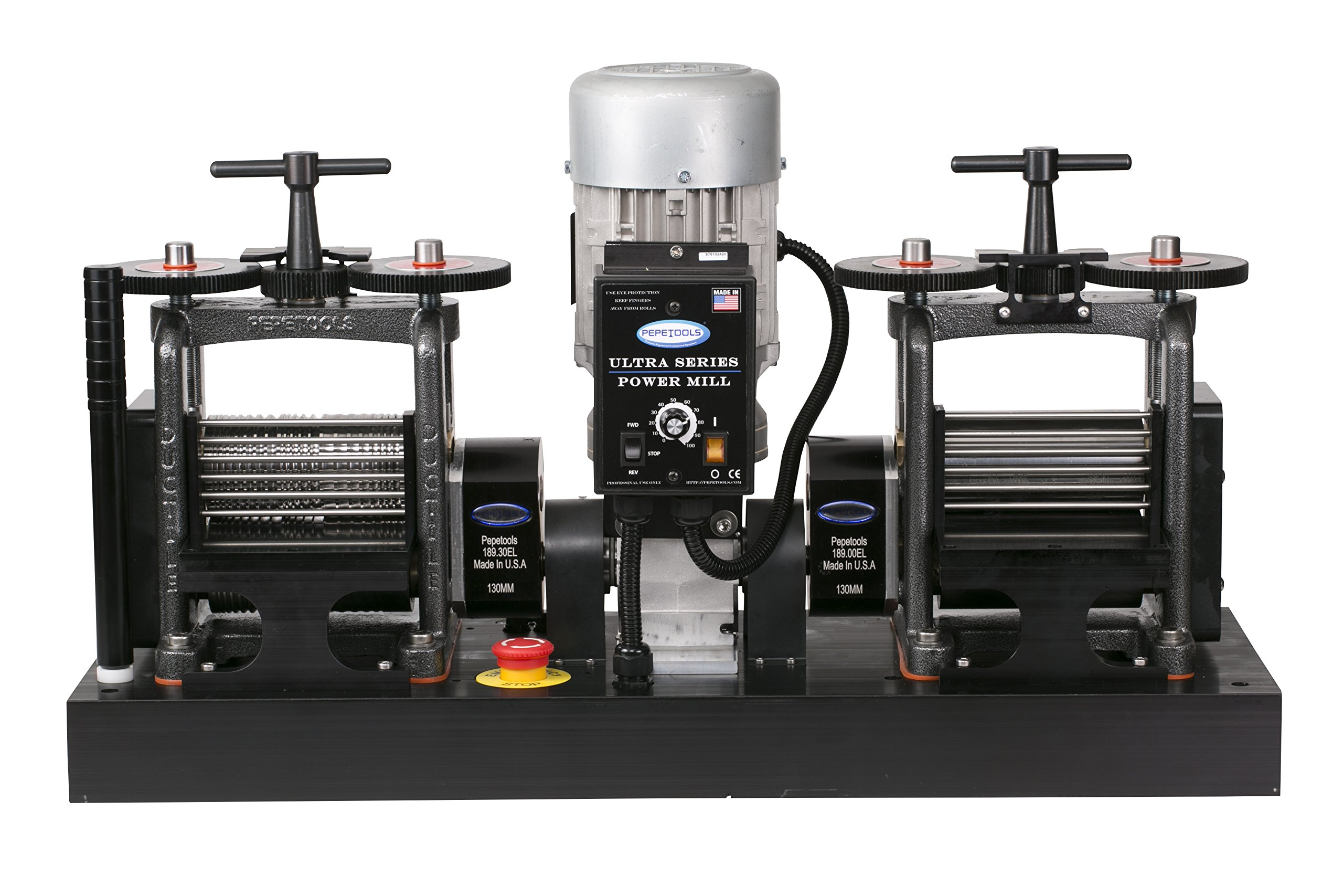 PepeTools Ultra Power Electric Double Rolling Mills Wire and Flat 130mm, MADE IN THE USA by Ultra Combo Wire Mill and Flat Mill