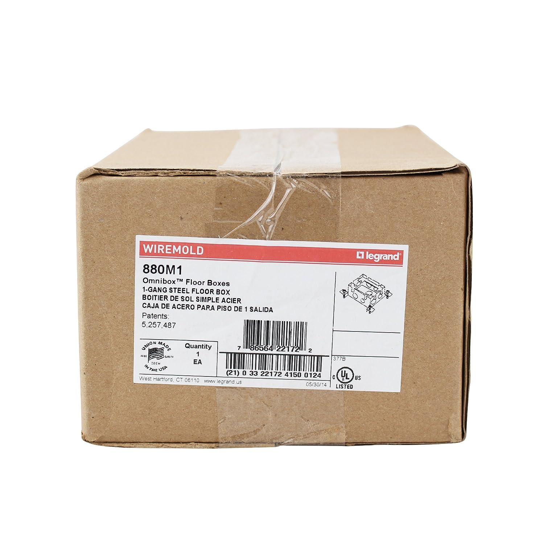 Wiremold Legrand 880 M1 omnibox Serie flach Stahl Boden Box 1-fach ...