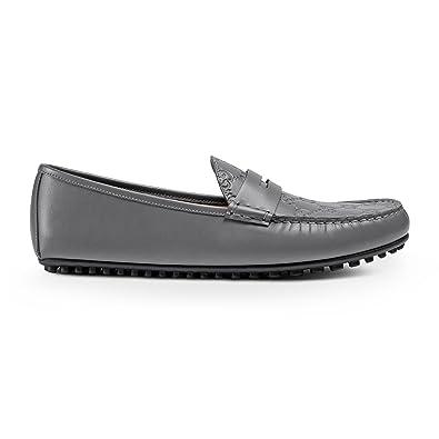 8baccf6ff Amazon.com: Gucci Men's Signature Driver, Grey (Graphite) 431063: Shoes