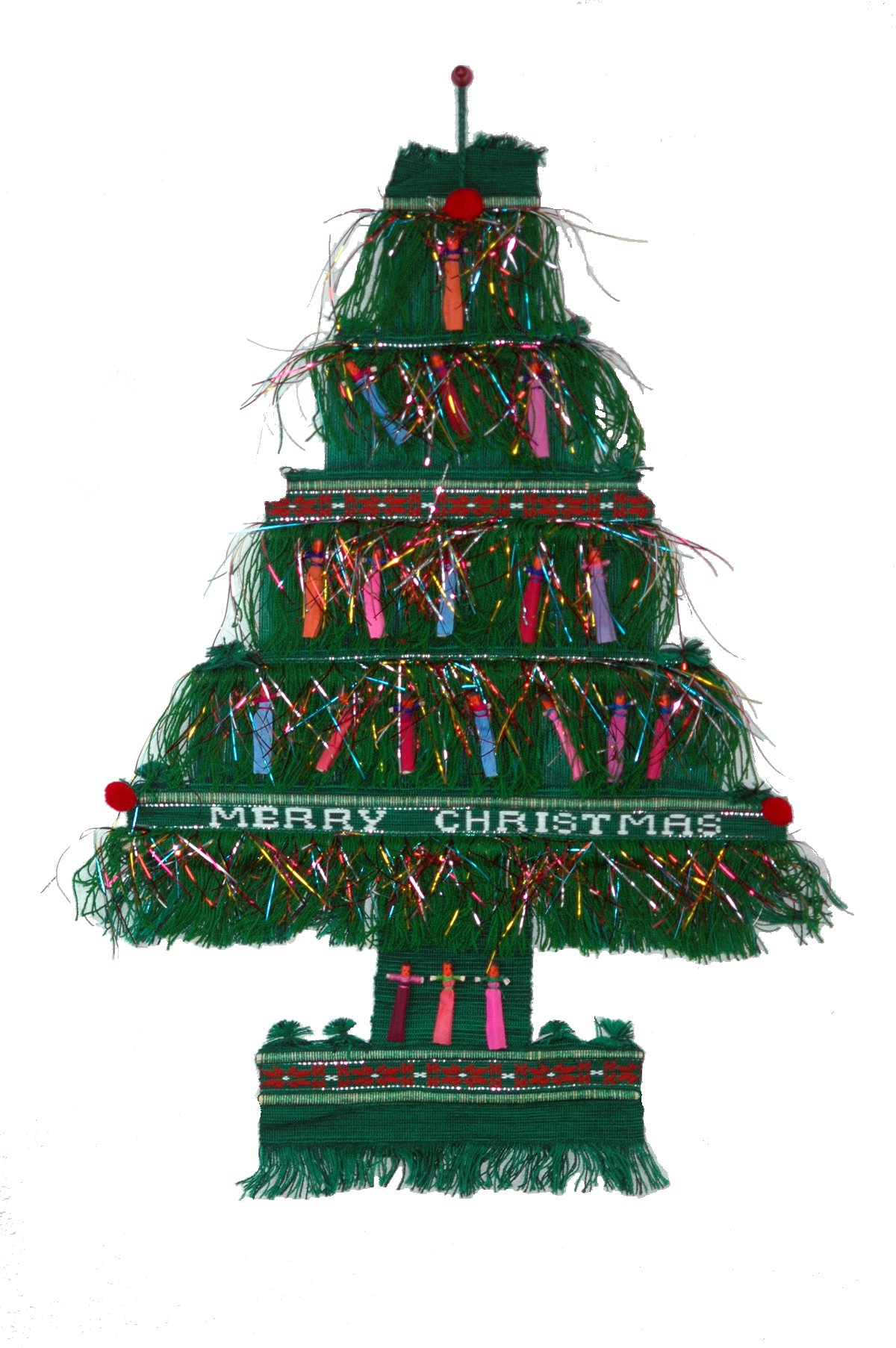 Christmas Tree with Worry Dolls Wall Decor