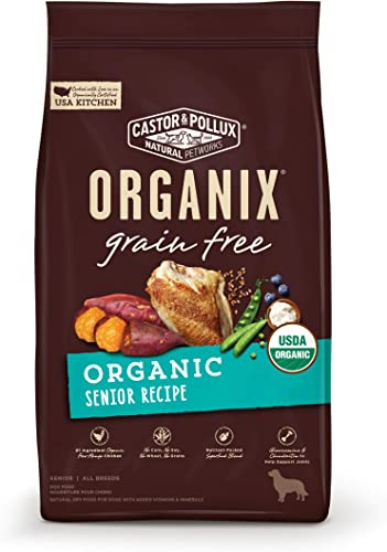 Castor Pollux ORGANIX Grain Free Organic Senior Recipe Grain Free Dry Dog Food – 4 lb. Bag