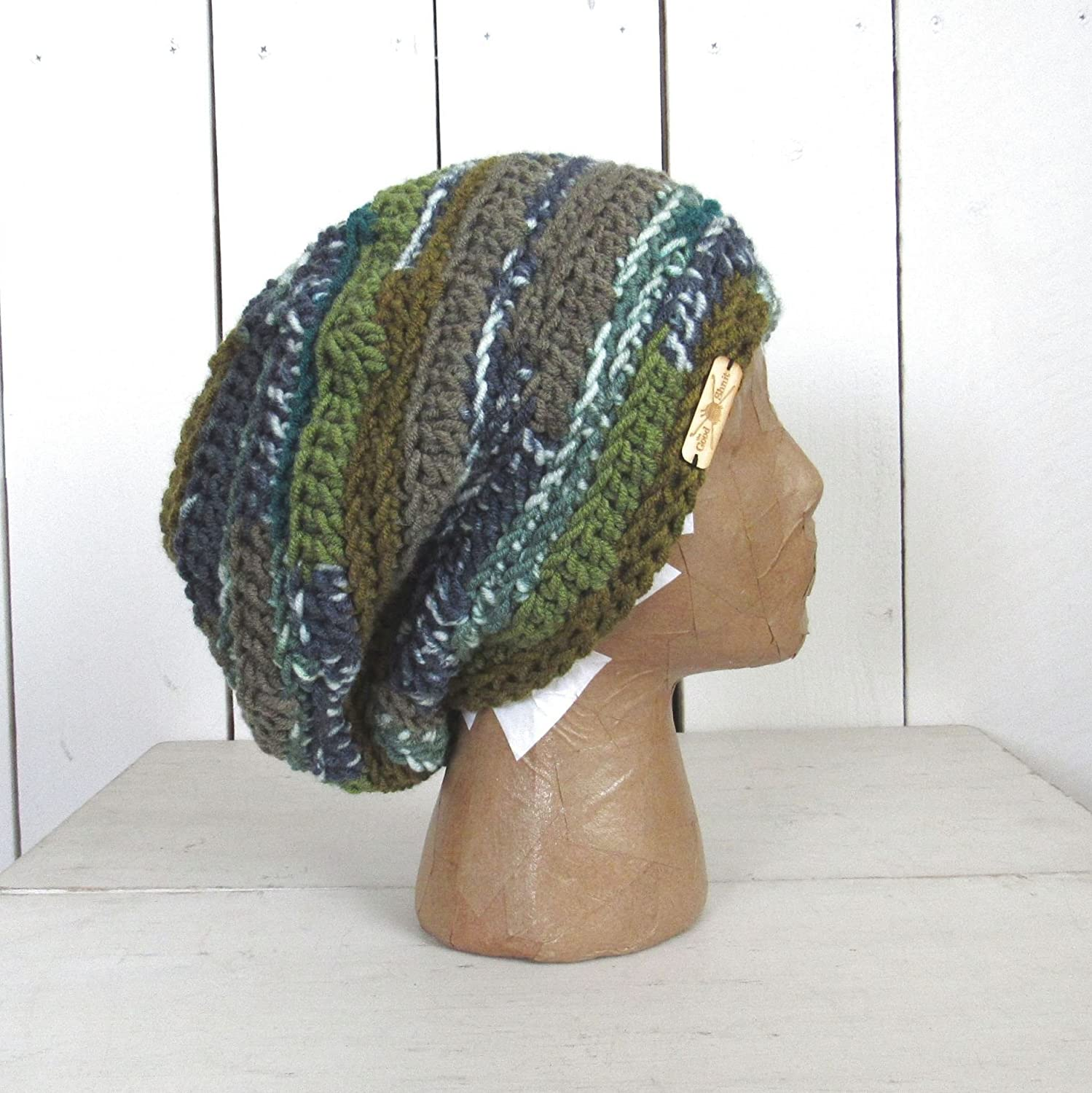 Hand Crochet Multi-Color Slouchy Snood Hat (More Colors Available) - DeluxeAdultCostumes.com