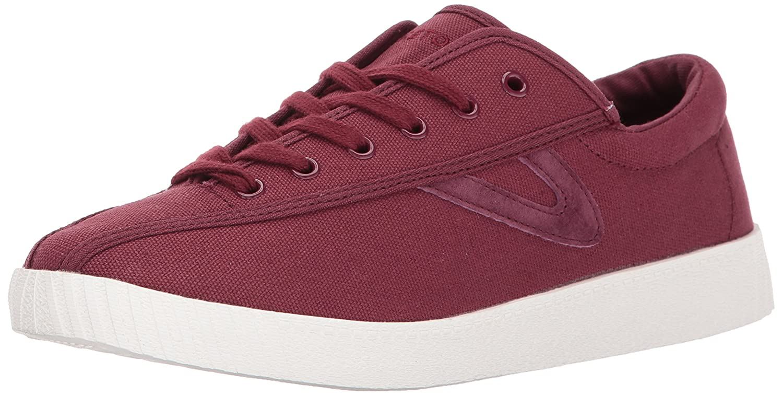 Tretorn Women's Nyliteplus Sneaker B06XY95L8N 6.5 B(M) US|Sangria Red Canvas