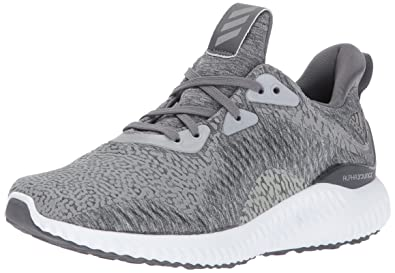 adidas Performance Boys' Alphabounce HPC Ams j Running Shoe, Medium Heather  Grey/Grey